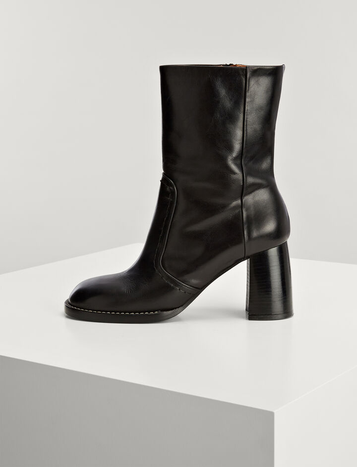 Calf Leather Duke Boots, in BLACK, large | on Joseph