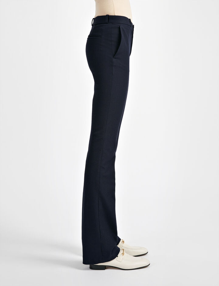 Pantalon New Rocket en gabardine stretch, in NAVY, large | on Joseph