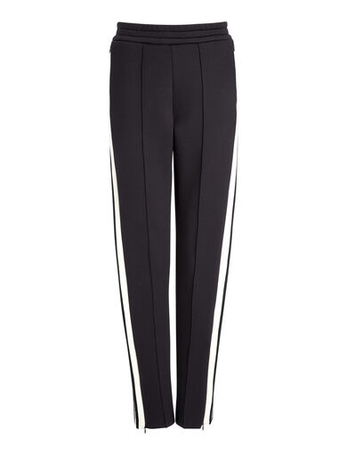 Scuba Track Pants, in BLACK/ECRU, large | on Joseph