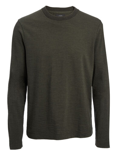 Wool Jersey Top, in MOSS, large | on Joseph