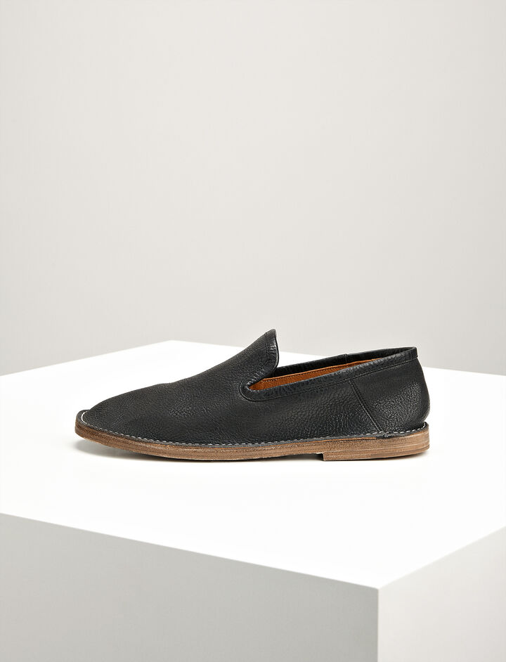 Joseph, Leather Riad Moccasin, in BLACK