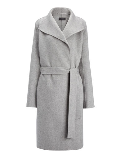 Manteau Lima en double cachemire, in CONCRETE, large | on Joseph