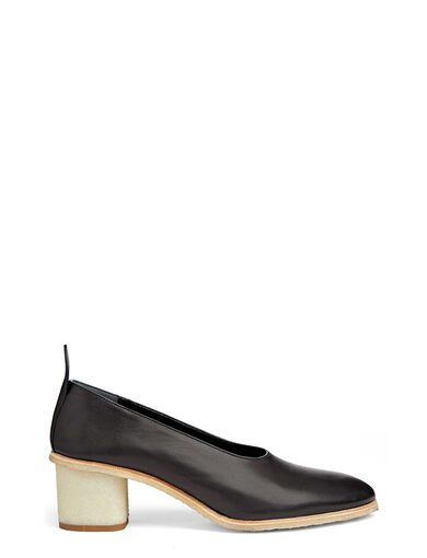 Calf Leather Pump, in BLACK, large | on Joseph