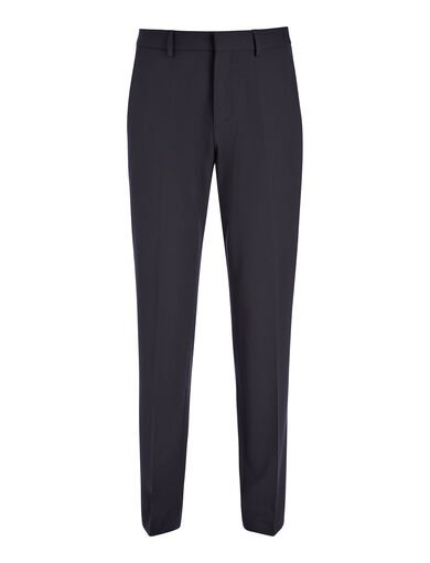 Pantalon Jask en laine techno stretch, in NAVY, large | on Joseph