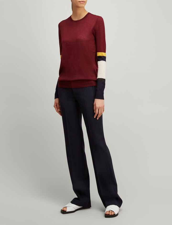 Joseph, Cashair Stripe Round Neck Sweater , in MORGON