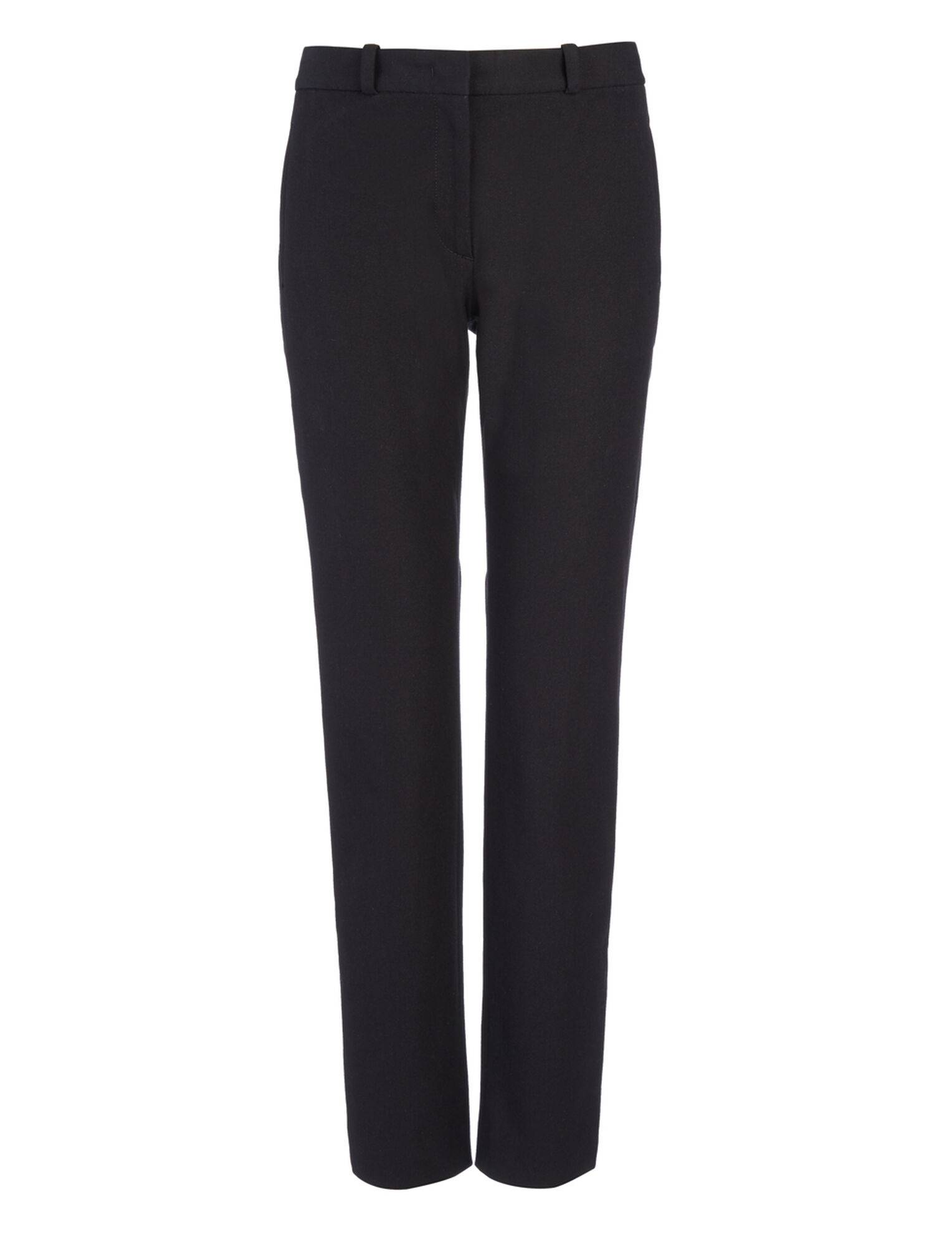 Gabardine Stretch New Eliston Trouser, in BLACK, large | on Joseph