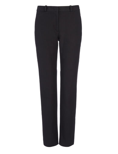 Pantalon New Eliston en gabardine stretch, in BLACK, large | on Joseph