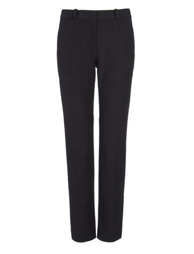 Pantalon New Eliston en gabardine stretch, in BLACK, large | on Joseph