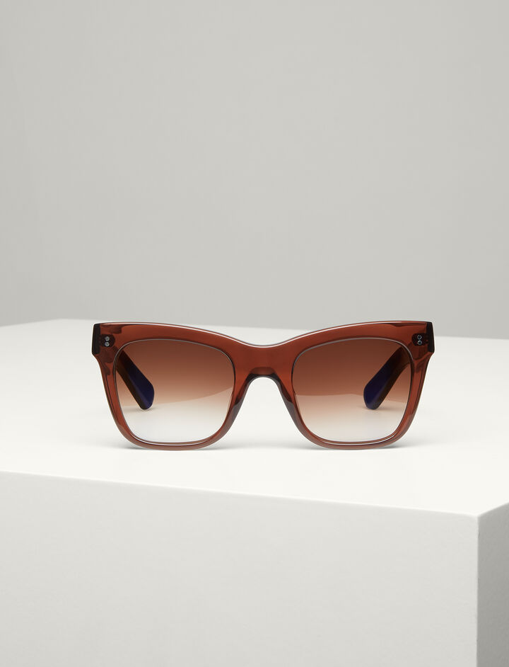 Joseph, Draycott Sunglasses, in TRANSPARENT BROWN