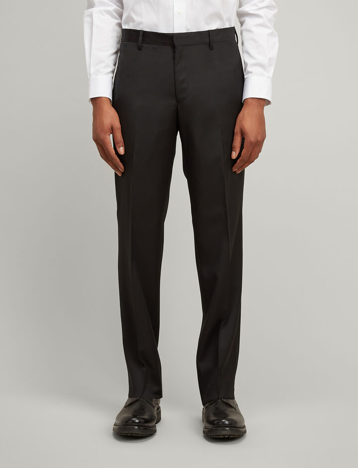 Fluid Wool Darwin Trousers, in BLACK, large | on Joseph