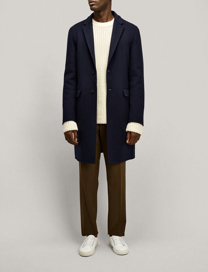 Joseph, Armand Luxe Double Wool Coat, in NAVY