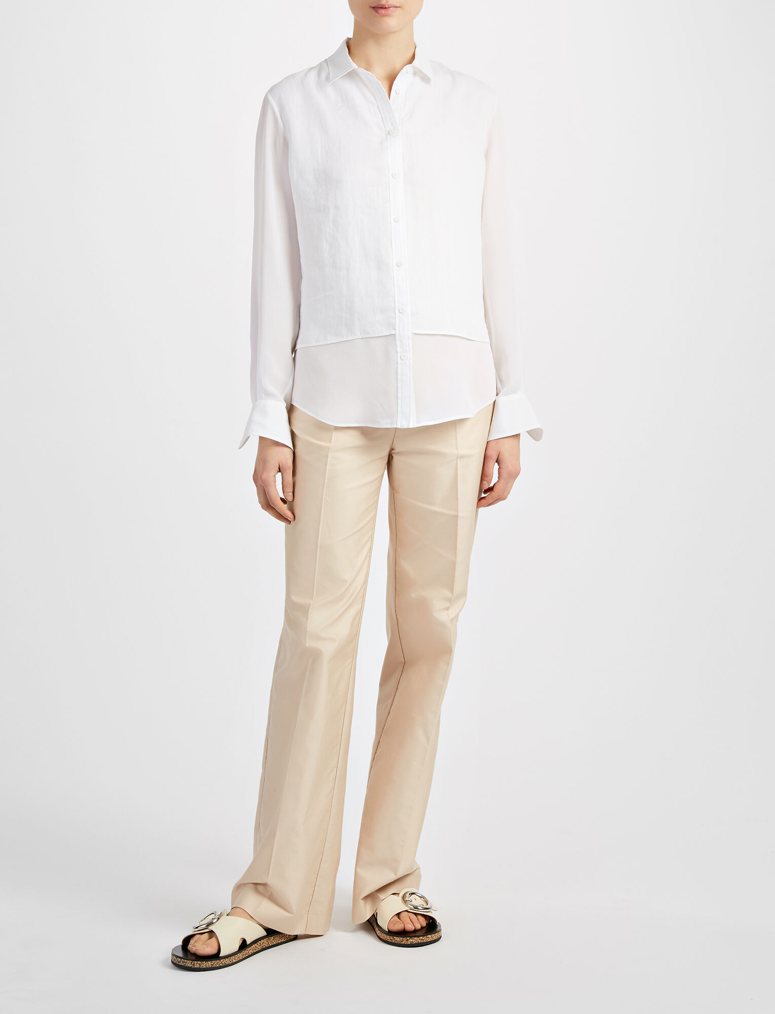 Joseph, Ramie Voile Gracie Blouse, in WHITE