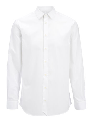 Chemise John en popeline, in WHITE, large | on Joseph