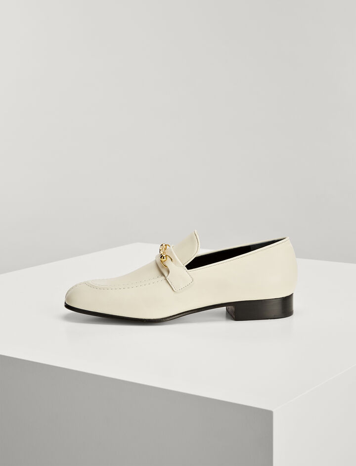 Joseph, Mocassins Cuir de Veau, in WHITE