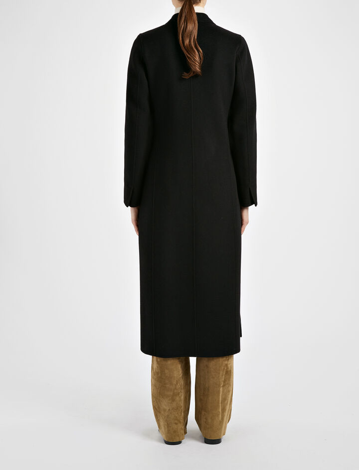 Light Double Cashmere Bailey Coat, in BLACK, large | on Joseph
