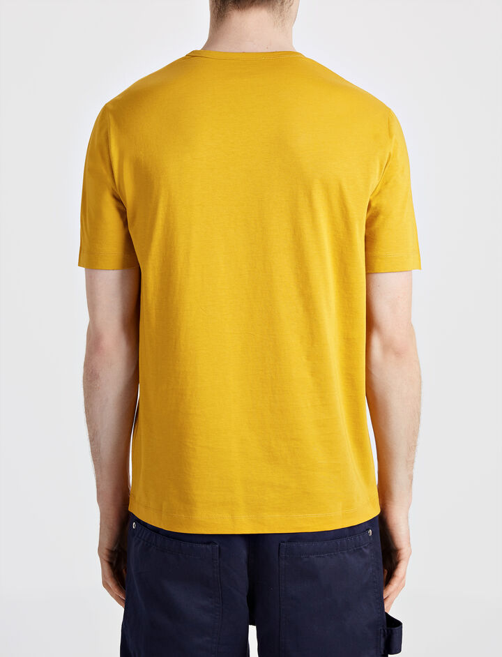 Mercerized Jersey Tee, in OCHRE, large | on Joseph
