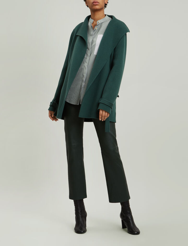 Joseph, New Lima Short Double Cashmere Coat, in CLOVER