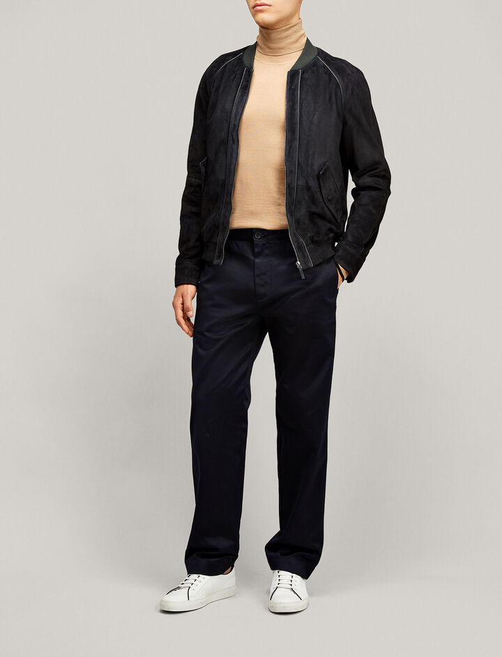 Joseph, Tony Leather Suede Jacket, in NAVY