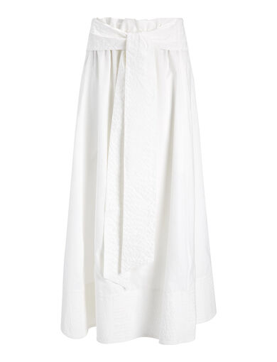 Cupro Arka Skirt, in WHITE, large | on Joseph