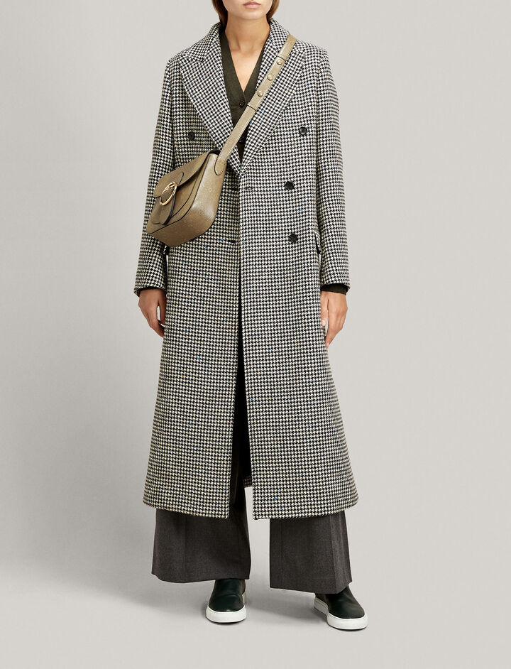 Joseph, New Arlon Smartie Dogtooth Coat, in BLACK