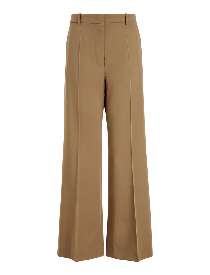 Joseph, Rone Wool Gabardine Trousers, in TOFFEE