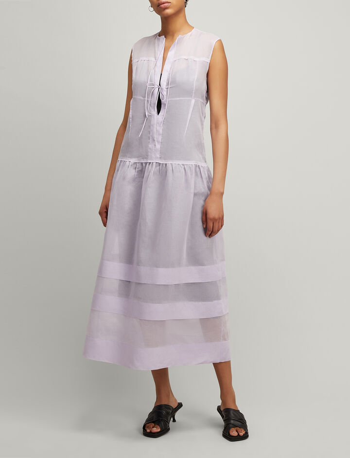 Joseph, Cotton Organza Curtis Dress, in PERIWINKLE