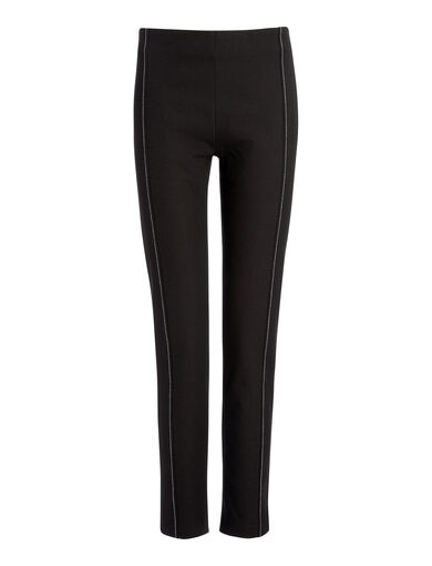 Pantalon Lenny en gabardine stretch, in BLACK, large | on Joseph