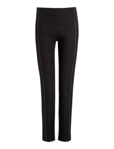 Gabardine Stretch Lenny Trousers, in BLACK, large | on Joseph