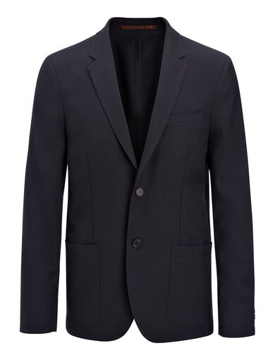 Washed Twill Hastings Jacket, in NAVY, large | on Joseph