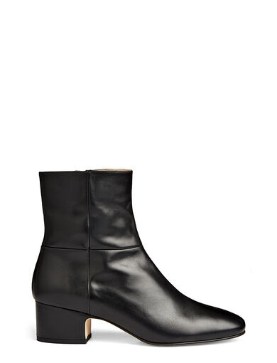 Calf Leather Cuban Heel Boot, in BLACK, large | on Joseph
