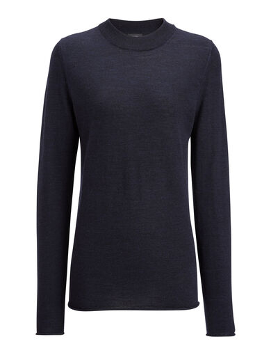 Fine Merinos Sweater, in NAVY, large | on Joseph