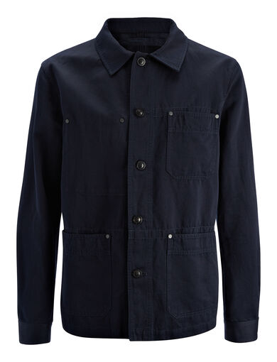 Veste Abbots en lin et coton, in NAVY, large | on Joseph