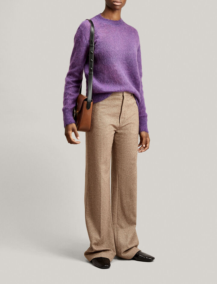 Joseph, Sweater Brushed Mohair Knit, in VIOLET