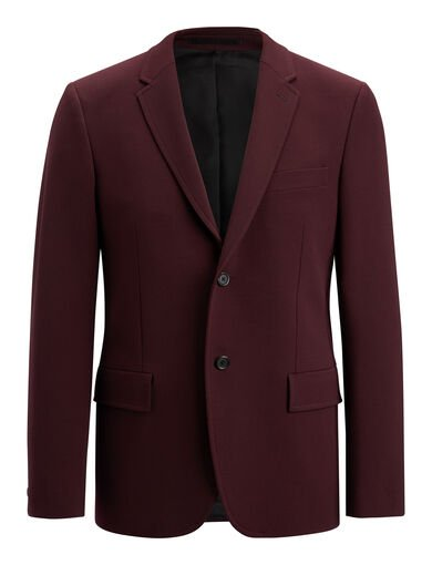 Veste Reading en laine techno stretch, in Burgundy, large | on Joseph