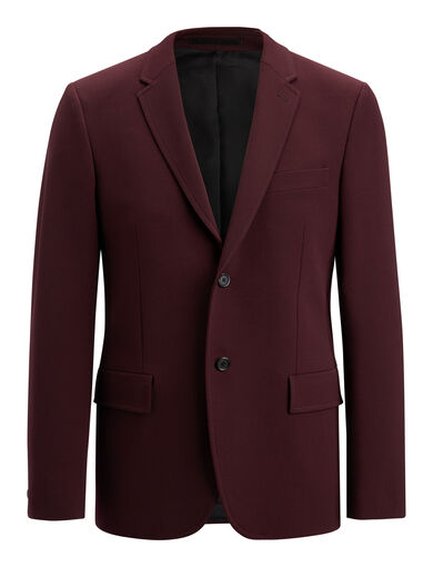 Techno Wool Stretch Reading Suiting Jacket, in BURGUNDY, large | on Joseph