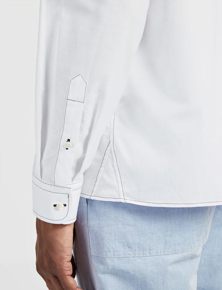 Oxford Shirting Coates Shirt, in WHITE, large | on Joseph