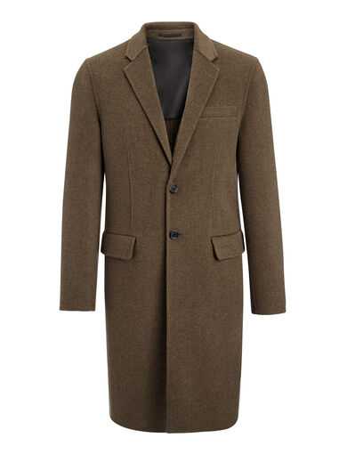 Double Face Cashmere Caversham Coat, in MILITARY, large | on Joseph