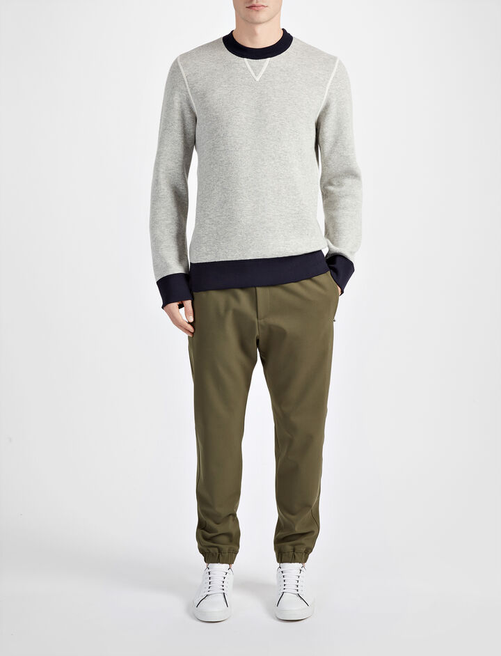 Bonded Cashmere Sweatshirt, in GREY CHINE, large | on Joseph