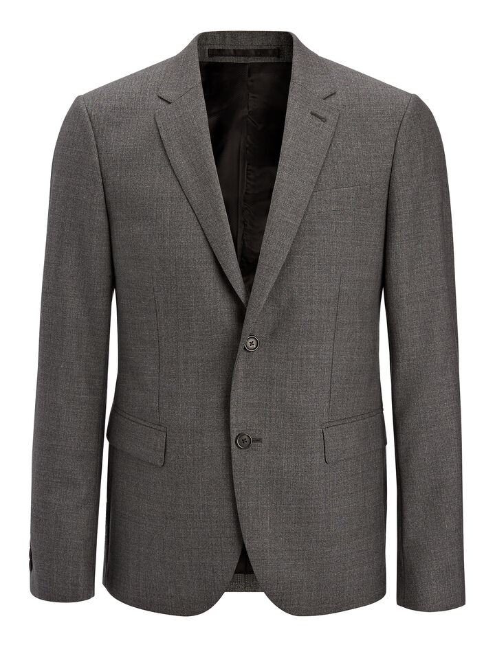 Tropical Wool Davide Suit Jacket, in GREY, large | on Joseph