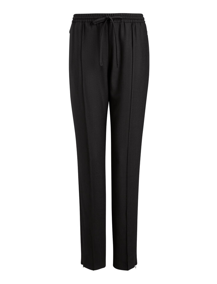 Joseph, New Dallas Comfort Wool Trousers, in BLACK