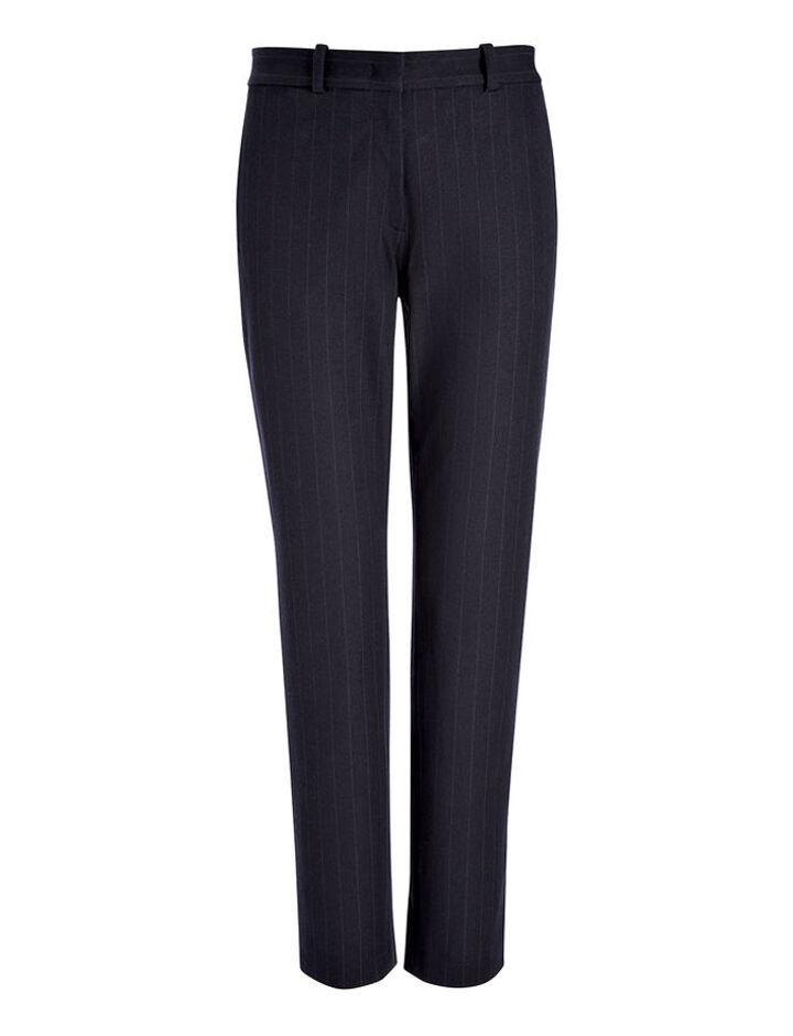 Gabardine Stretch Jacquard New Eliston Trouser, in NAVY, large | on Joseph