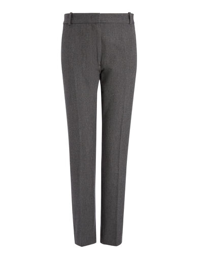 Gab Stretch Chiné Zoom Trousers, in GRAPHITE, large | on Joseph