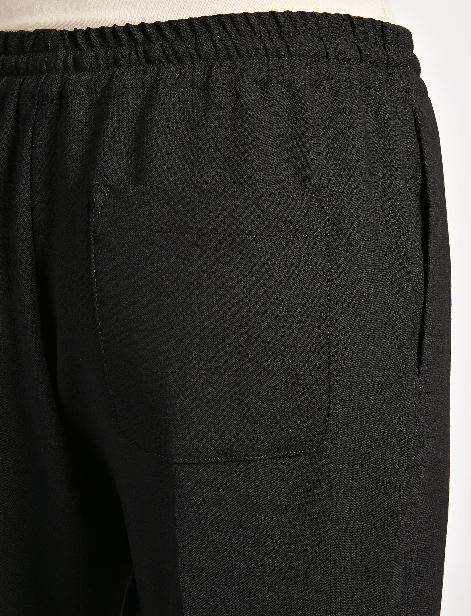 Joseph, Stretch Wool Louna Trouser, in BLACK