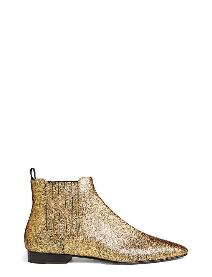 Nappa Leather Star Pixie Boot, in GOLD, large | on Joseph