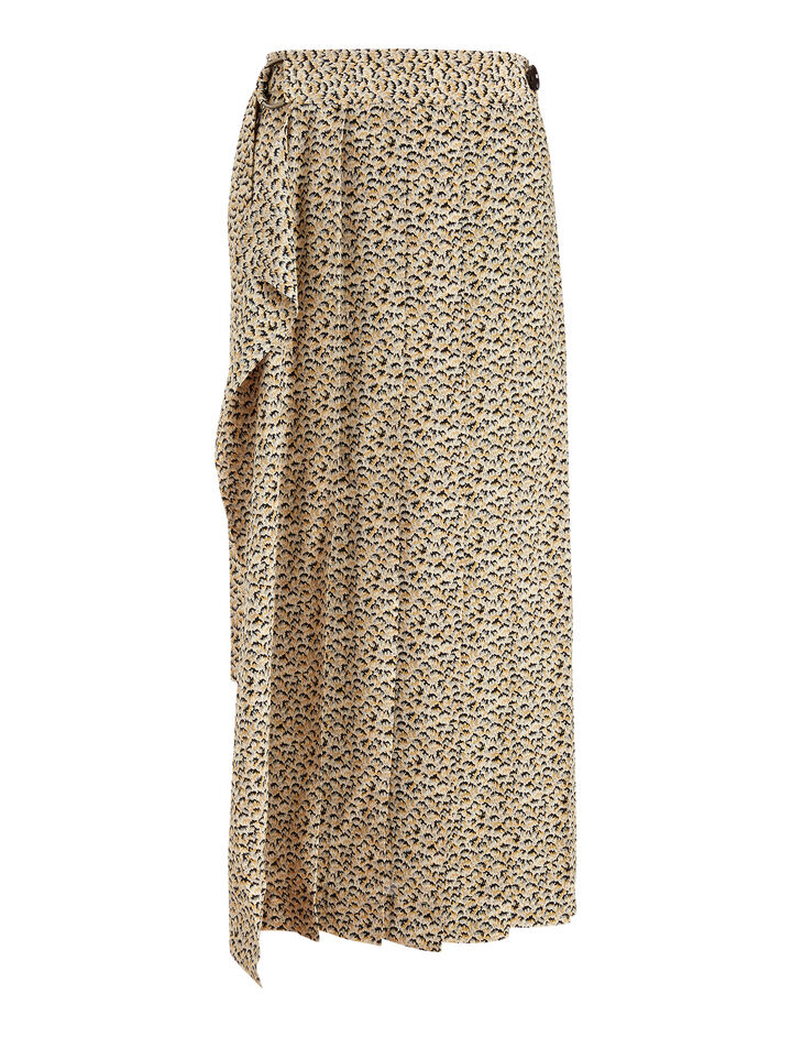 Joseph, Fleet Fossil Print Skirt, in MULTICOLOUR