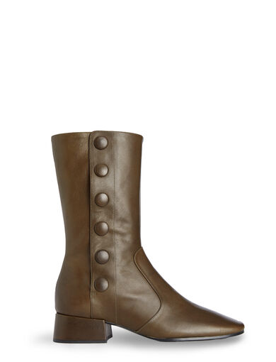 Military Flat Boots, in KHAKI, large | on Joseph