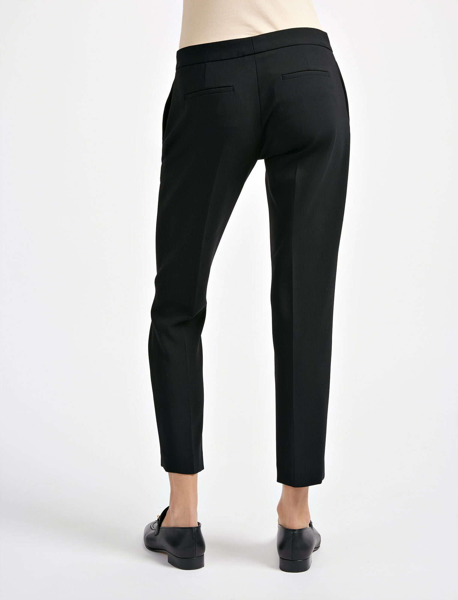Joseph, Stretch Wool Finley Trouser, in BLACK