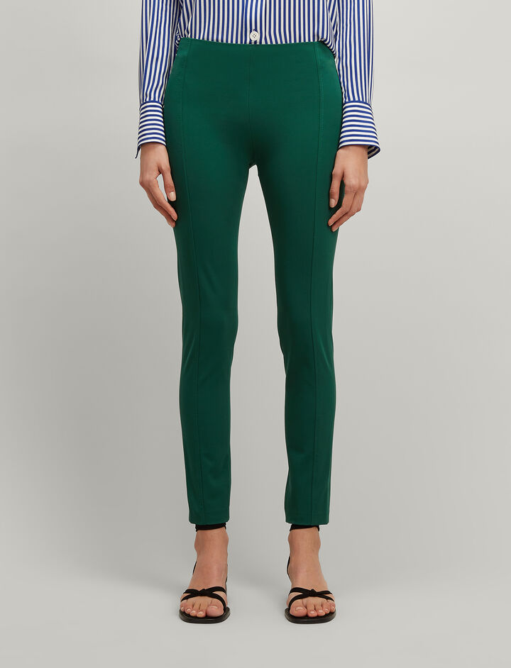 Drill Stretch Lenny Trousers, in EMERALD, large | on Joseph