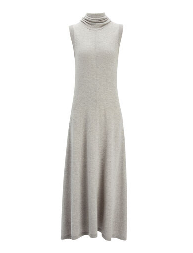 Robe Joane en laine douce, in CONCRETE, large | on Joseph