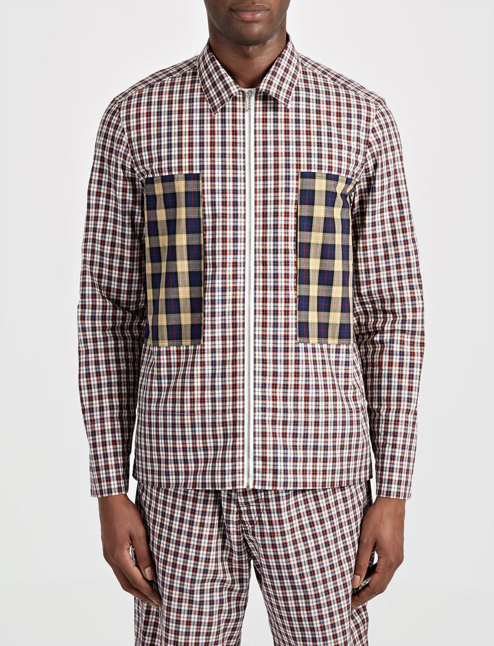 Check Shirting Falkland Shirt, in WHITE, large | on Joseph